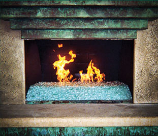 Fireplaces With Glass Rocks Transition Your Wood Burning Fireplace Or Fire Pit Into An Elegant
