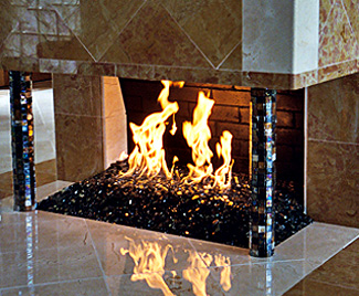 Fireplaces With Glass Rocks FireCrystals Glass Fireplace Fire Pit Rocks